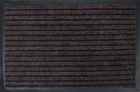 Коврик влаговпитывающий, ребристый Юнион Трейд Стандарт 40х60 см коричневый