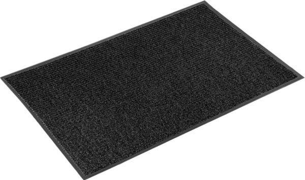 Коврик влаговпитывающий, ребристый Юнион Трейд Стандарт 90х150 см черный