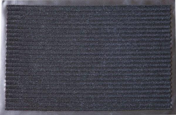 Коврик влаговпитывающий 2-х полосный БалтТурф (Double stripe doormat) 40х60 см черный