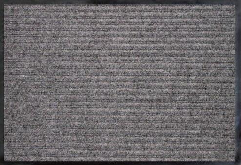 Коврик влаговпитывающий 2-х полосный БалтТурф (Double stripe doormat) 60х90 см серый