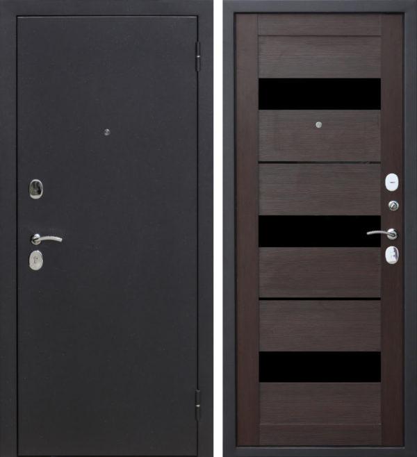 Дверь входная металлическая 6 см Гарда Муар Черный Кипарис Царга правая 860х2050 мм Цитадель