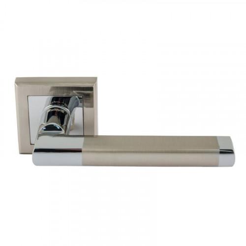 Ручка дверная ЕСО 108К AL мат.никель/хром Нора-М