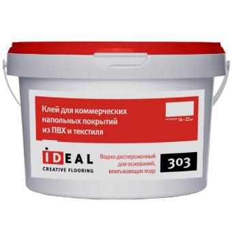 Клей Ideal 303 для коммерческих  покрытий 4,0 кг