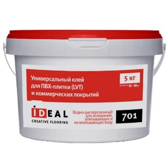 Клей Ideal 701 для ПВХ (LVT)плитки и коммерческих покрытий 5,0 кг