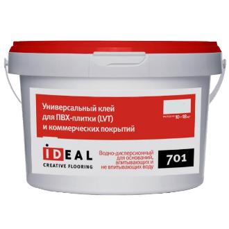 Клей Ideal 701 для ПВХ (LVT)плитки и коммерческих покрытий 3,0 кг