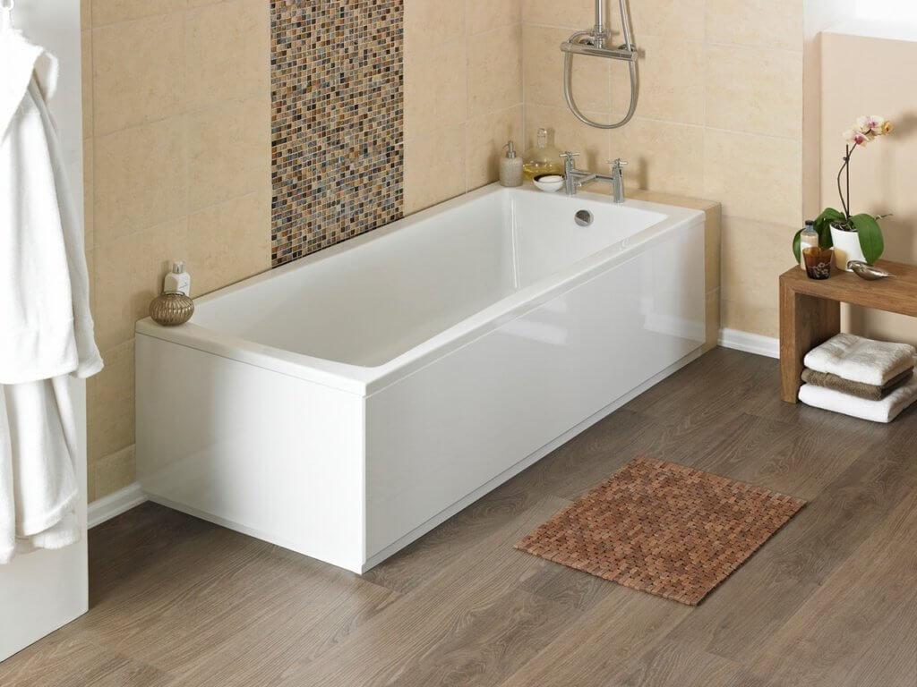 акриловая ванная в интерьере